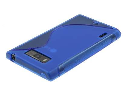 LG Optimus L7 P700 Wave Case - Frosted Blue/Blue