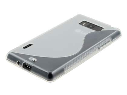 Wave Case for LG Optimus L7 P700 - Frosted Clear/Clear