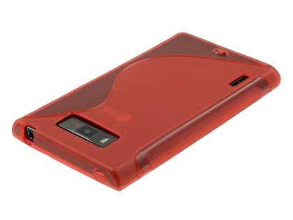 Wave Case for LG Optimus L7 P700 - Frosted Red/Red