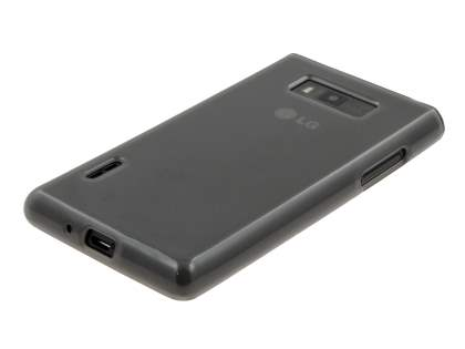 LG Optimus L7 P700 Frosted Colour TPU Gel Case - Frosted Grey