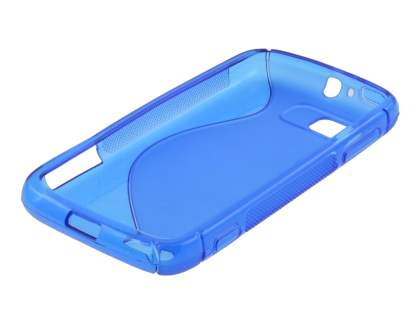 Wave Case for Motorola ATRIX 2 MB865 - Frosted Blue/Blue