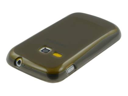 Samsung Galaxy mini 2 S6500 Frosted Colour TPU Gel Case - Frosted Grey