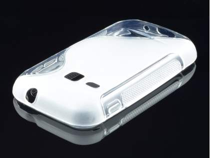Samsung Galaxy mini 2 S6500 Wave Case - Frosted Clear/Clear