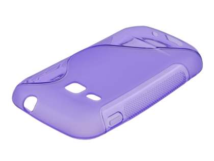 Samsung Galaxy mini 2 S6500 Wave Case - Frosted Purple/Purple