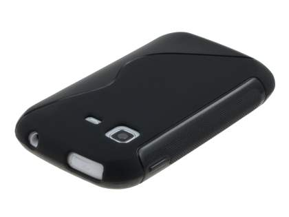 Samsung Galaxy Pocket S5300 Wave Case - Frosted Black/Black