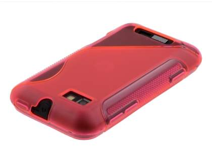 Wave Case for Motorola Defy Mini XT320 - Frosted Pink/Pink
