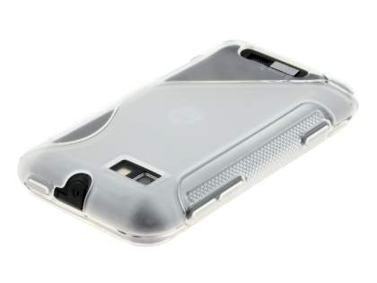 Wave Case for Motorola Defy Mini XT320 - Frosted Clear/Clear