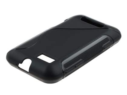 Motorola Defy Mini XT320 Wave Case - Frosted Black/Black