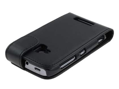Nokia Lumia 610 Synthetic Leather Flip Case - Black