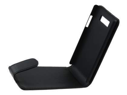 LG Optimus L7 P700 Synthetic Leather Flip Case - Classic Black