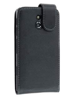 Synthetic Leather Flip Case for Sony Xperia P LT22i - Classic Black Leather Flip Case
