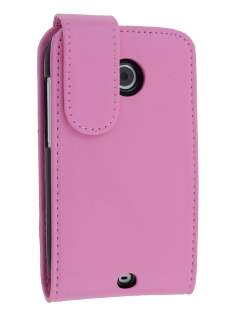 Synthetic Leather Flip Case for HTC Desire C - Baby Pink Leather Flip Case