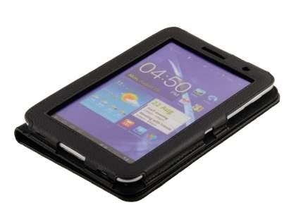 Samsung Galaxy Tab 7.0 Plus Synthetic Leather Flip Case with Fold-Back Stand - Classic Black