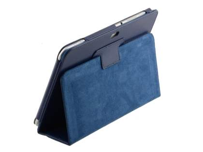 Synthetic Leather Flip Case with Fold-Back Stand for Samsung Galaxy Tab 8.9 4G - Dark Blue Leather Flip Case