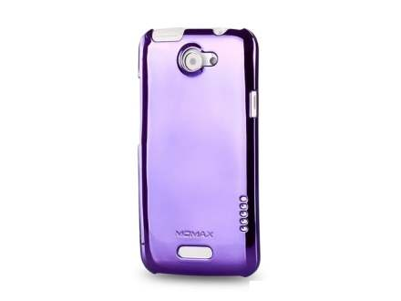 MOMAX Ultra-Thin Metallic Case for HTC One X - Metallic Purple