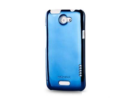 MOMAX Ultra-Thin Metallic Case for HTC One X - Metallic Blue Hard Case