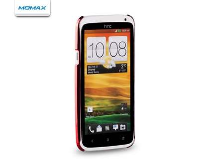 MOMAX Ultra-Thin Metallic Case for HTC One X - Metallic Red
