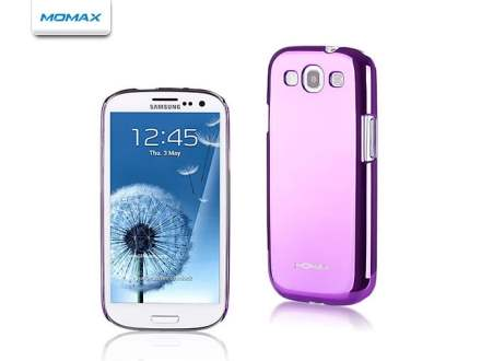 MOMAX Ultra-Thin Metallic Case for Samsung I9300 Galaxy S3 - Metallic Purple Hard Case