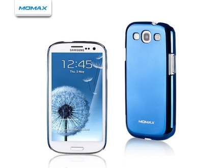 MOMAX Ultra-Thin Metallic Case for Samsung I9300 Galaxy S3 - Metallic Blue Hard Case