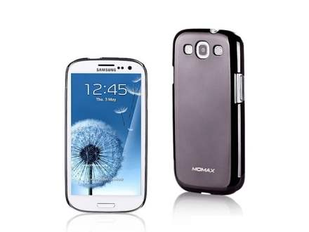 MOMAX Ultra-Thin Metallic Case for Samsung I9300 Galaxy S3 - Metallic Black