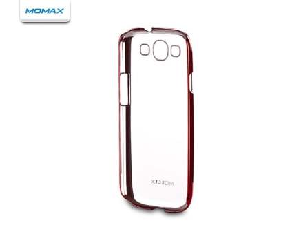 MOMAX Ultra-Thin Metallic Case for Samsung I9300 Galaxy S3 - Metallic Red