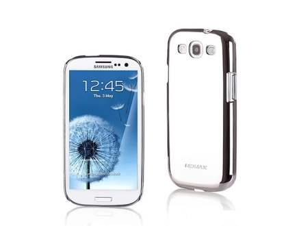 MOMAX Ultra-Thin Metallic Case for Samsung I9300 Galaxy S3 - Platinum Silver Hard Case