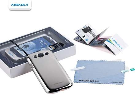 MOMAX Ultra-Thin Metallic Case for Samsung I9300 Galaxy S3 - Platinum Silver