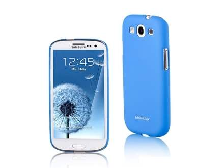 MOMAX Ultra Tough Slim Rubberised Case for Samsung I9300 Galaxy S3 - Sky Blue Hard Case