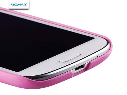 MOMAX Ultra Tough Slim Rubberised Case for Samsung I9300 Galaxy S3 - Baby Pink