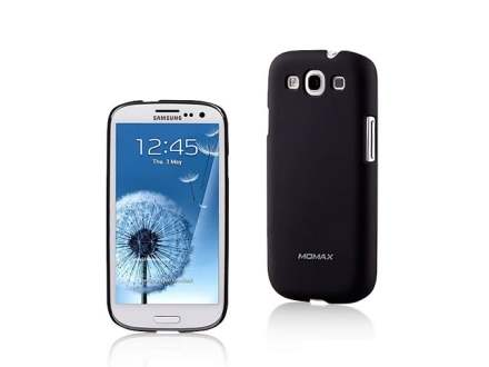 MOMAX Ultra Tough Slim Rubberised Case for Samsung I9300 Galaxy S3 - Night Black Hard Case