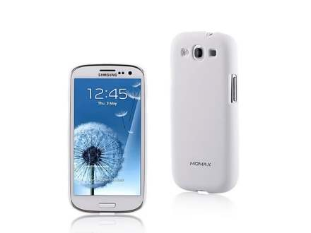 MOMAX Ultra Tough Slim Rubberised Case for Samsung I9300 Galaxy S3 - Pearl White Hard Case