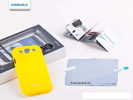 MOMAX Ultra Tough Slim Rubberised Case for Samsung I9300 Galaxy S3 - Canary Yellow