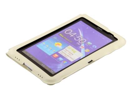 Ultra-slim Synthetic Leather Case for Samsung Galaxy Tab 7.0 Plus - Cream