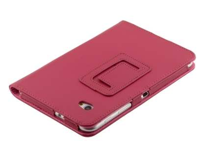 Samsung Galaxy Tab 7.0 Plus Synthetic Leather Flip Case with Fold-Back Stand - Raspberry