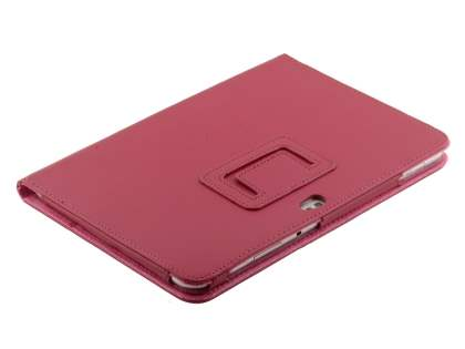 Synthetic Leather Flip Case with Fold-Back Stand for Samsung Galaxy Tab 8.9 4G - Raspberry