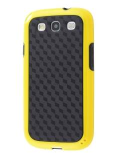 3D Design Protective Case for Samsung I9300 Galaxy S3 - Canary Yellow/Black