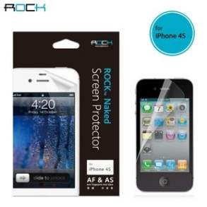 ROCK iPhone 4S/4 Naked AF & AS Screen and Back Protector - Screen Protector