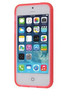 Frosted TPU Gel Case for iPhone SE/5s/5 - Coral