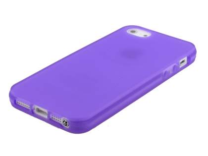 Apple iPhone SE/5s/5 Frosted TPU Gel Case - Purple