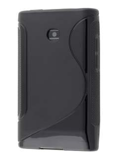 Wave Case for LG Optimus L3 E400/L2 E405 - Frosted Black/Black Soft Cover