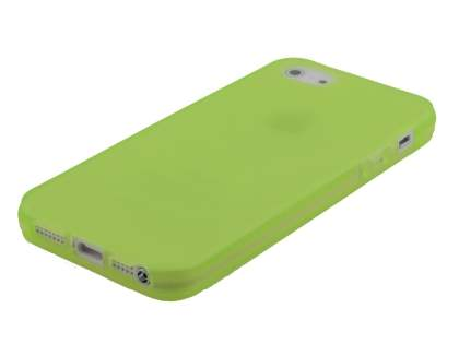 Apple iPhone SE/5s/5 Frosted TPU Gel Case - Lime Green