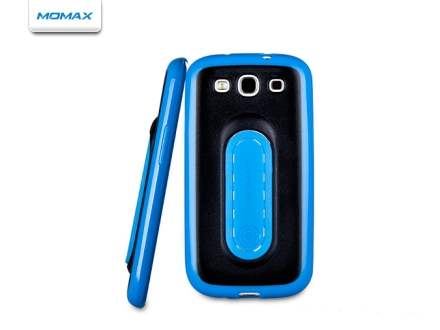 MOMAX iStand Pro for Samsung Galaxy S3 I9300 - Blue/Black