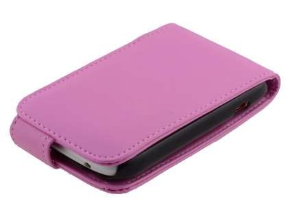 Synthetic Leather Flip Case for HTC Desire C - Baby Pink
