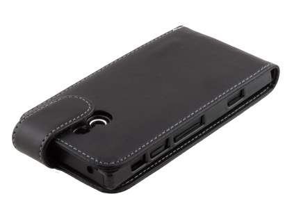 Sony Xperia P LT22i Synthetic Leather Flip Case - Classic Black