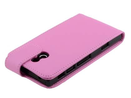 Synthetic Leather Flip Case for Sony Xperia P LT22i - Pink