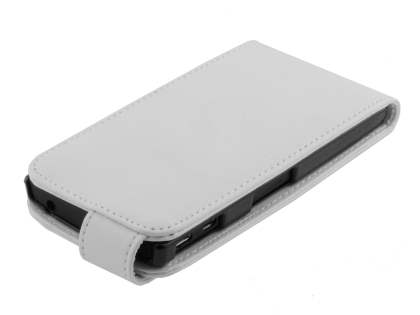 Sony Xperia P LT22i Synthetic Leather Flip Case - Pearl White
