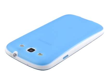 Samsung I9300 Galaxy S3 Dual-Design Case - Sky Blue/White