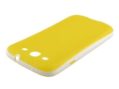 Samsung I9300 Galaxy S3 Dual-Design Case - Canary Yellow/White