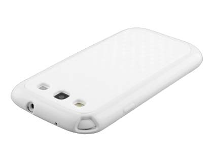 3D Design Protective Case for Samsung I9300 Galaxy S3 - Pearl White
