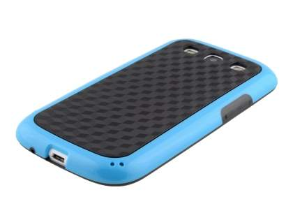 3D Design Protective Case for Samsung I9300 Galaxy S3 - Light Blue/Black